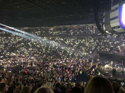 Infinite Energy Arena, section: 108, row: W, seat: 12