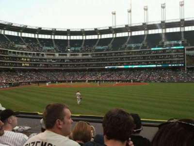 Progressive Field, section: 109, row: D, seat: 7