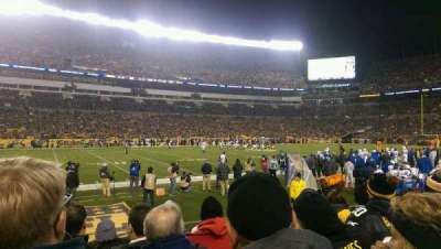 Heinz Field, section: 108, row: E, seat: 17
