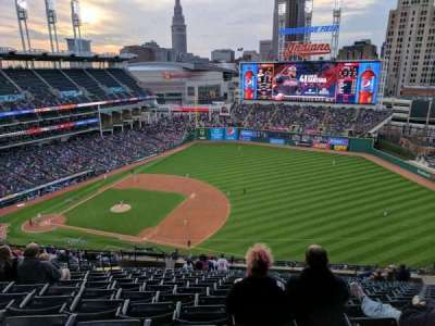 Progressive Field, section: 533, row: V, seat: 16