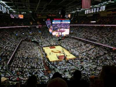 Quicken Loans Arena, section: 232, row: 3, seat: 11