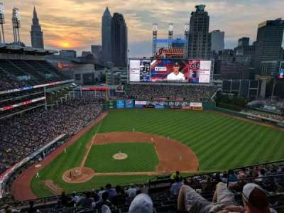 Progressive Field, section: 548, row: T, seat: 8