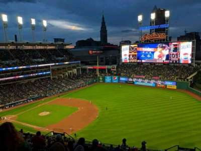 Progressive Field, section: 529, row: P, seat: 8