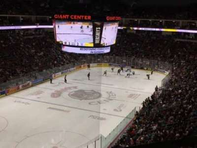 Giant Center, section: 216, row: A, seat: 15