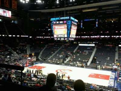 Philips Arena, section: 210, row: A, seat: 3