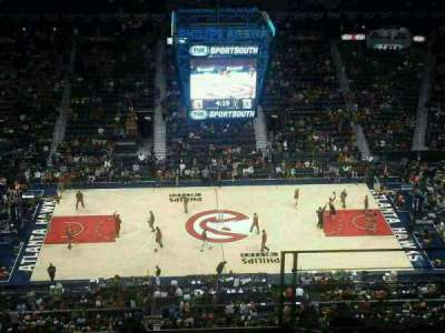 Philips Arena, section: 411, row: G, seat: 9