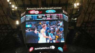 American Airlines Center, secção: 112, fila: A, lugar: 12