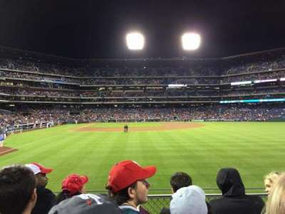 Citizens Bank Park, section: 105, row: 4, seat: 11