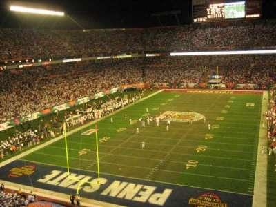 Hard Rock Stadium section Upper End Zone