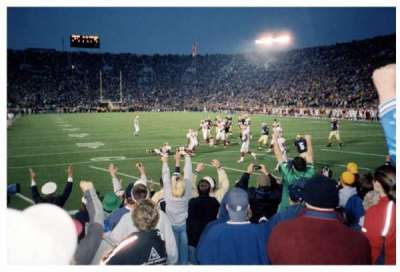 Notre Dame Stadium section 2