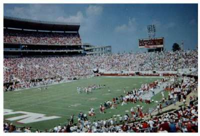 Bryant-Denny Stadium, section: N, row: 31, seat: 6-7