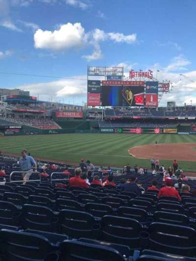 Nationals Park, section: 115, row: HH, seat: 9