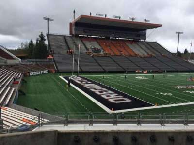 Reser Stadium, section: 121, row: 20, seat: 10