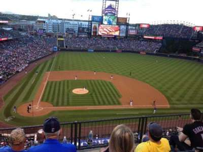 Coors Field, section: L325, row: 2, seat: 22