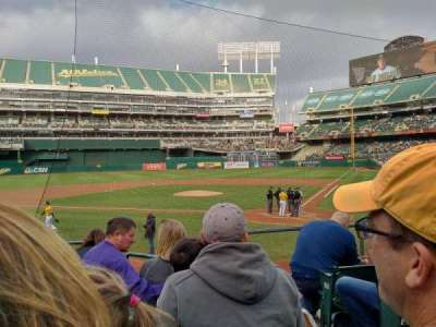 Oakland Alameda Coliseum, section: 119, row: 17, seat: 2