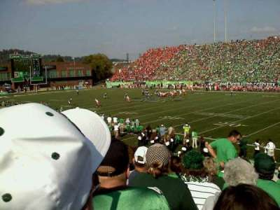 Joan C. Edwards Stadium, section: 124, row: 21, seat: 102