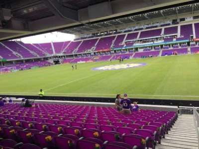 Orlando City Stadium, section: 33, row: P, seat: 1