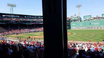 Fenway Park, section: Grandstand 11, row: 2, seat: 7