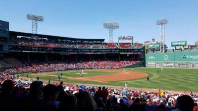 Fenway Park, section: Grandstand 11, row: 1, seat: 11