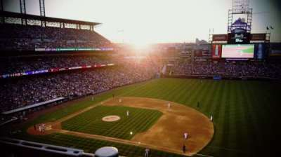 Coors Field, section: L319, row: 1, seat: 21