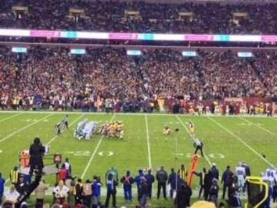 FedEx Field, section: 122, row: 22, seat: 22