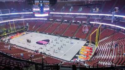 Honda Center, section: 407, row: N, seat: 8