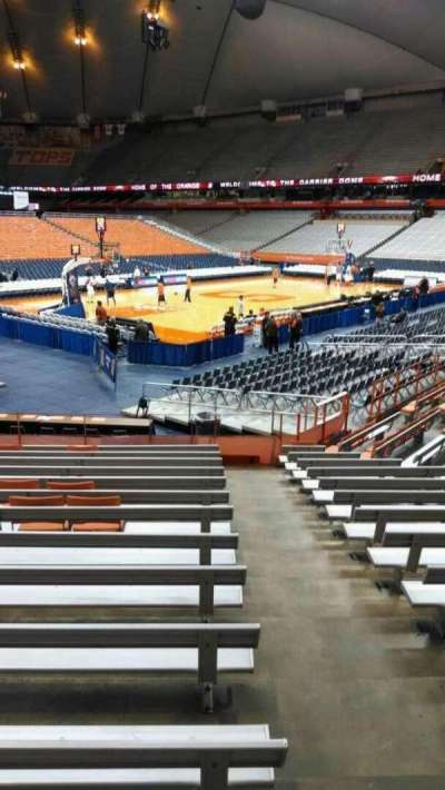 Carrier Dome, section: 111, row: N, seat: 1