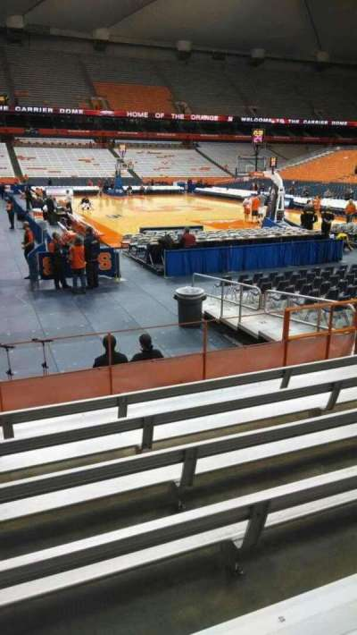 Carrier Dome, section: 105, row: G, seat: 112
