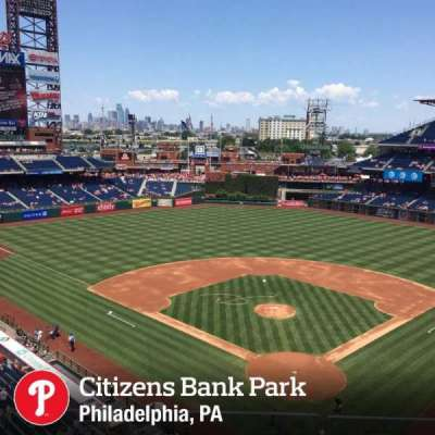 Citizens Bank Park, section: 321, row: 3, seat: 16