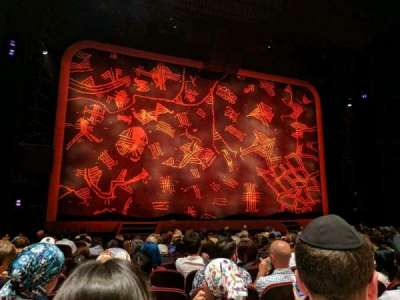 Minskoff Theatre, section: Orchestra, row: N, seat: 104