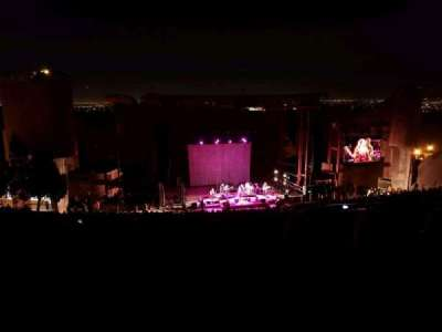 Red Rocks Amphitheatre, row: 32, seat: 109