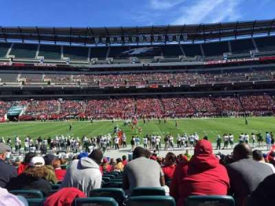 Lincoln Financial Field, section: 101, row: 18, seat: 20