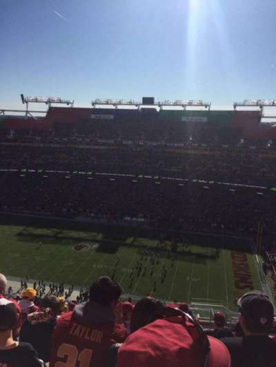 FedEx Field, section: 423, row: 25, seat: 20