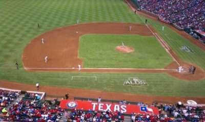 Globe Life Park in Arlington, section: 319, row: 1, seat: 13