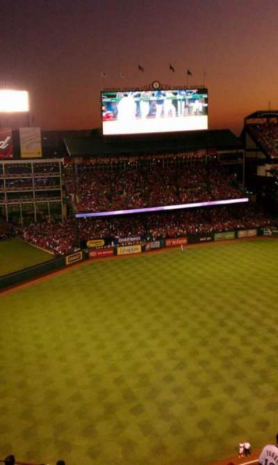 Globe Life Park in Arlington section 312