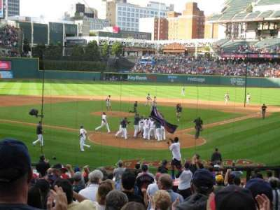 Progressive Field, section: 155, row: CC, seat: 2