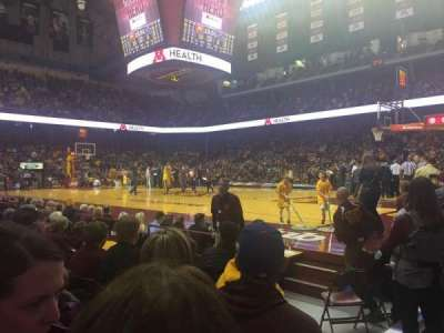 Williams Arena, section: 114, row: 5, seat: 1