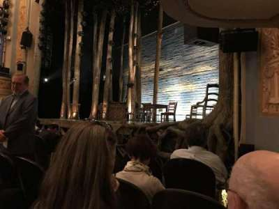 Gerald Schoenfeld Theatre, section: Orchestra-Partial View, row: D, seat: 14