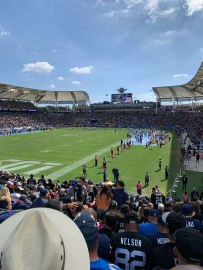 StubHub Center, section: 118, row: V, seat: 13