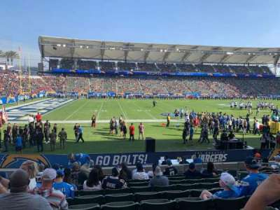 Dignity Health Sports Park, section: 114, row: M, seat: 7
