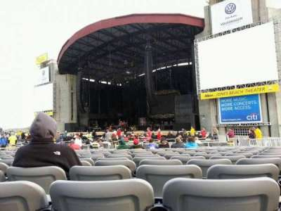 Jones Beach Theater, section: G, row: SS, seat: 17