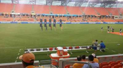BBVA Compass Stadium, section: 108, row: h, seat: 1