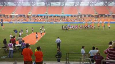 BBVA Compass Stadium, section: 106, row: h, seat: 1