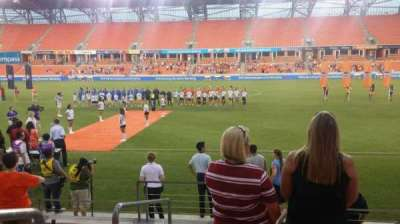 BBVA Compass Stadium, section: 105, row: g, seat: 26