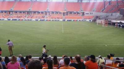 BBVA Compass Stadium, section: 104, row: k, seat: 3