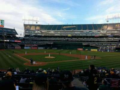 Oakland Alameda Coliseum, section: 116, row: 26, seat: 1
