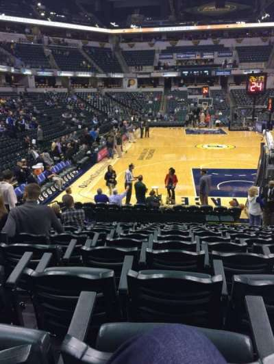 Bankers Life Fieldhouse, section: 1, row: 12, seat: 6