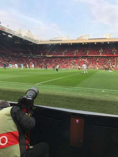 Old Trafford, section: W105, row: AA, seat: 74