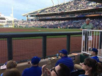 Kauffman Stadium, section: DUGSTE, row: STE, seat: 19