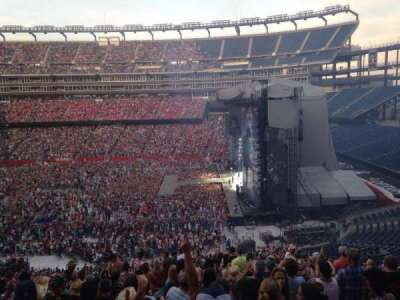 Gillette Stadium, section: Club 28, row: 15, seat: 10